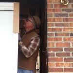 Jim Tomlin installing dorr