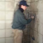 Rusty Installing tile