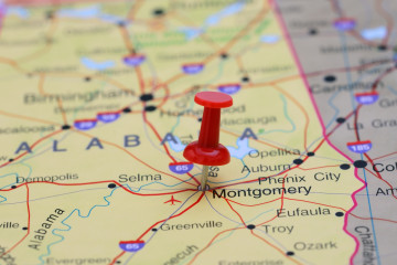 Montgomery pinned on a map of USA